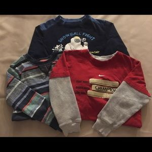 Boy's Size 5 Lot of 3 Long Sleeve Shirts Nike GUC